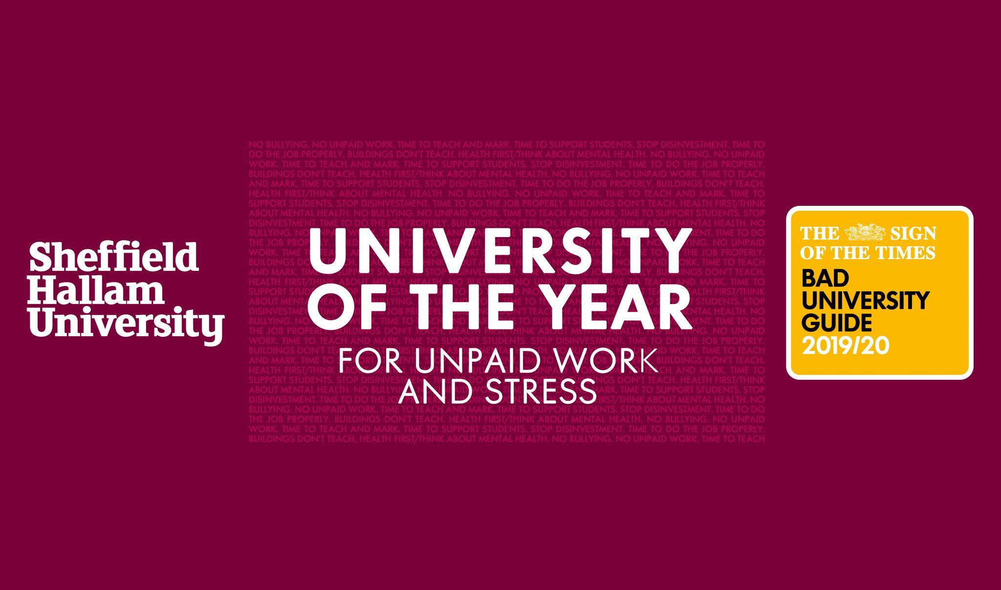 bad university of the year